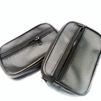 "3"" X 4.5"" Leather Look All Black  2 Zipper Storage & Coin Purse .54 each"