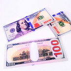 "3.5"" X 8"" $ 100 Bill Novelty Bi-Fold Wallet 12 per pk .58 each"