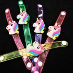 Light Up Flashing Unicorn  Bracelets 12 per pk (204)  .56 each