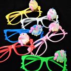 Novelty Lenseless Glasses w/ Flashing Unicorn  .55 each