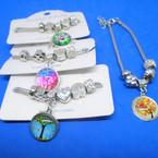 Pandora Style Charm Bracelets Silver w/ Tree of Life Theme  .54 ea