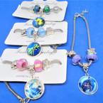 Pandora Style Charm Bracelets Silver w/ Turtle Theme Charm  .54 ea