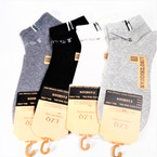 4 Color Sport Theme Ankle Socks   ind. carded .54 each pair