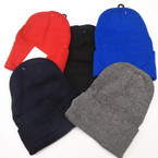 Asst Color  Knit Beanie Caps Adult Size  12 per pk .65 each
