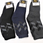 Heavy Duty Men's Dress Socks w/ Design  3 colors one size .66 per pair