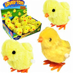 "Cute 3.5"" Wind Up Baby Chicks 12 per display box .58 each"