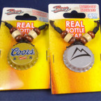 Cord Necklace w/ Real Bottle Cap Pendant Coors Beer  .50 each