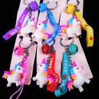 Unicorn Bell Keychain w/ Love Bracelet 12 per pk .56 each