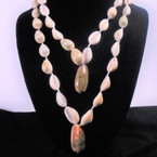 "22"" Cowrie Shell Necklace w/ Shell Pendant 12 per pk .65 each"