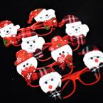 Red Lenseless Christmas Novelty Glasses 4 styles (812) .55 each