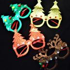 Lenseless Christmas Novelty Glasses 4 styles (810) .55 each