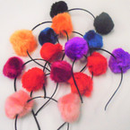 Popular Mixed Color Pom Pom Fashion Headbands .56 each