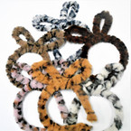 Fury Animal Print Rabbit Ear (side mount) Novelty Headbands  6 colors .56 each