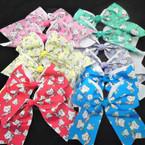 """6"""" Gator Clip Tail Bow w/ Unicorn Kitty Theme Too Cute .54 each"""