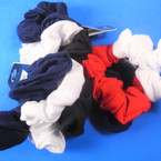3 Pack Black,White,Navy,Red  Color Cotton Hair Twisters .54 per set