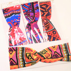 "Trending 3"" Stretch Headband African Clothes Print (1152)  .54 each"