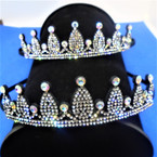 Black Crystal Stone Crown Theme Headbands  12 per pk .56 each