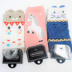 Cute Mixed Color Ankle Socks 3 styles   ind. carded .50 each pair
