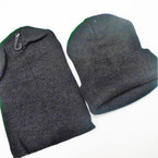 All Black Knit Beanie Caps Adult Size (60162)  12 per pk .65 ea