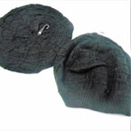 SPECIAL All Black  Knit Beret  12 per pack  .83 each