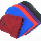 Dark Color Mix  Knit Beanie Caps Adult Size   12 per pk .65 ea