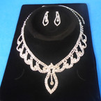 Elegant Clear Rhinestone Necklace Set (24) sold by set  $ 3.00 ea set