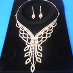 Elegant Clear Rhinestone Necklace Set (22) sold by set  $ 3.00 ea set