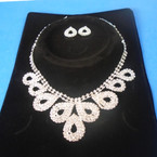 Elegant Clear Rhinestone Necklace Set (27) sold by set  $ 3.00 ea set
