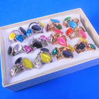 36 Pack Mixed Style Rings  Only .20 each ring