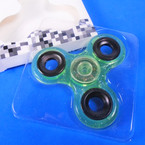 """SPECIAL 3"""" Transparent Green w/ Glitter  Hand Spinners sold by dozen   .40  each"""