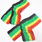 "2.75"" Wide Rasta/Jamaica Color Stretch Crochet Headwraps 36 pk  .19 each"