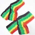 """2.75"""" Wide Rasta/Jamaica Color Stretch Crochet Headwraps 36 pk  .19 each"""