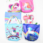 "4.5"" Unicorn Theme Handle Zipper Bags 6 styles  .55 each"