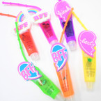 "4"" Best Friend  Theme Glitter Fruit Lip Gloss 12 per pk .56 each"