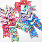 "5"" X 6"" Butterfly Theme Gator Clip Tail Bows Asst COlors .54 each"