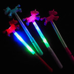 "12"" Light Up 3 Function Multi Color  Unicorn Wands Asst Colors 12 per pk .65 each"