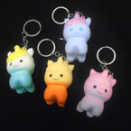 "2"" Soft & Squishy So Cute Unicorn Keychains Asst Colors .55 each"