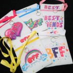 "5"" X 7"" Best Friend Theme Zipper Side Bag w/ Strap 12 per pk .60 each"