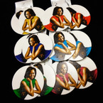"2.75"" Round Michelle Obama Fashionable Wood Earring .54 each pair"
