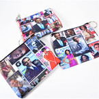 "4"" Obama Picture Theme Zipper Coin Purse w/ Key Chain .56 ea"