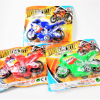 "4.5"" Super Team Motorcycle 3 colors 12 per pk .58 each"