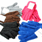 VALUE BUY Unisex Fuzzie Winter Gloves Mixed Colors 12 pairs per pk .58 each