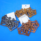 "2.75"" Wood Symbol Fashion  Earrings w/ Crosses  3 colors .54 each pair"