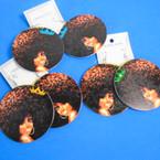 "2.75"" Sassy Girl Wood Fashion  Earrings w/ Mini Crown  .54 each pair"