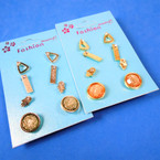 4 Pack Value Pack Earrings Gold & Silver .50 per set