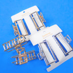 Best Quality Metal Gold & Silver  2 Pack Square Shape Jaw Hair Clips  .54 per set