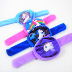 "NEW 3"" Unicorn Zipper Coin Purse on Slap Bracelet 12 per pk .60 each"