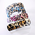 Trendy Velvet w/ Knot  Headbands Animal Prints 12 per pk  .56 each