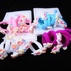 6 Pack Soft Ponytailer w/ Sparkle Unicorn .52 per set