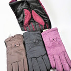 Ladies Fleece Lined w/ Grip Winter Gloves 12 pair pk $ 2.25 each pair